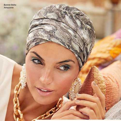 Bonnets et Foulards Boho spirit - Chimiothérapie - Collection Elite Hair - Printemps -été 2021  bohospiritamazonie1